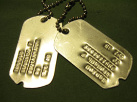 notched dog tags