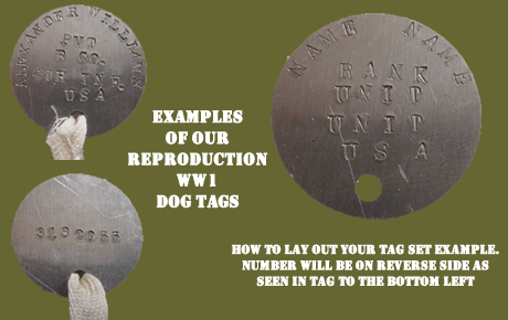 ww1 dog tag reproduction blanks